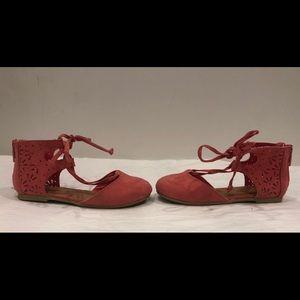 Coral Redish ballet shoe